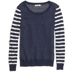 Madewell Striped Birdseye sweater